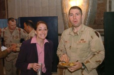 Two of my best friends to this day. Suzanne and Ryan. FOB Danger, Tikirt, Iraq, December 2004.